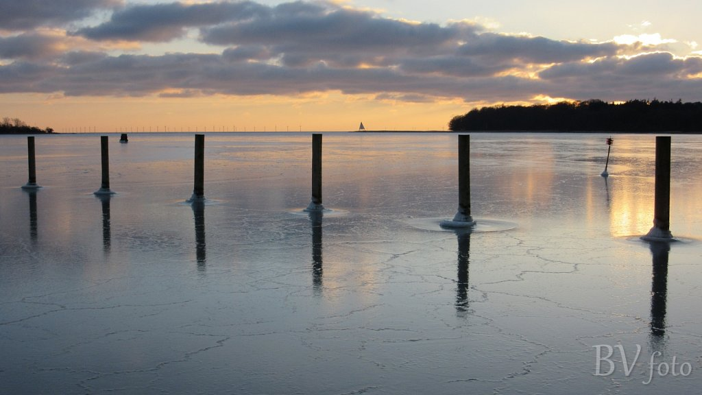 Isvinter og frosset hav