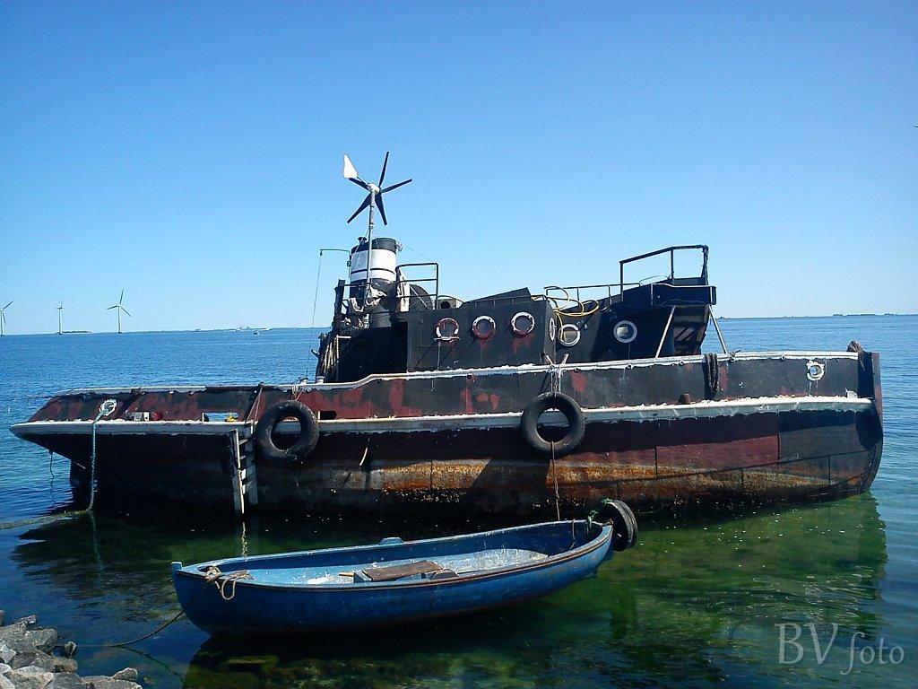 Husbåd-vraget IDUM, Amager Strand