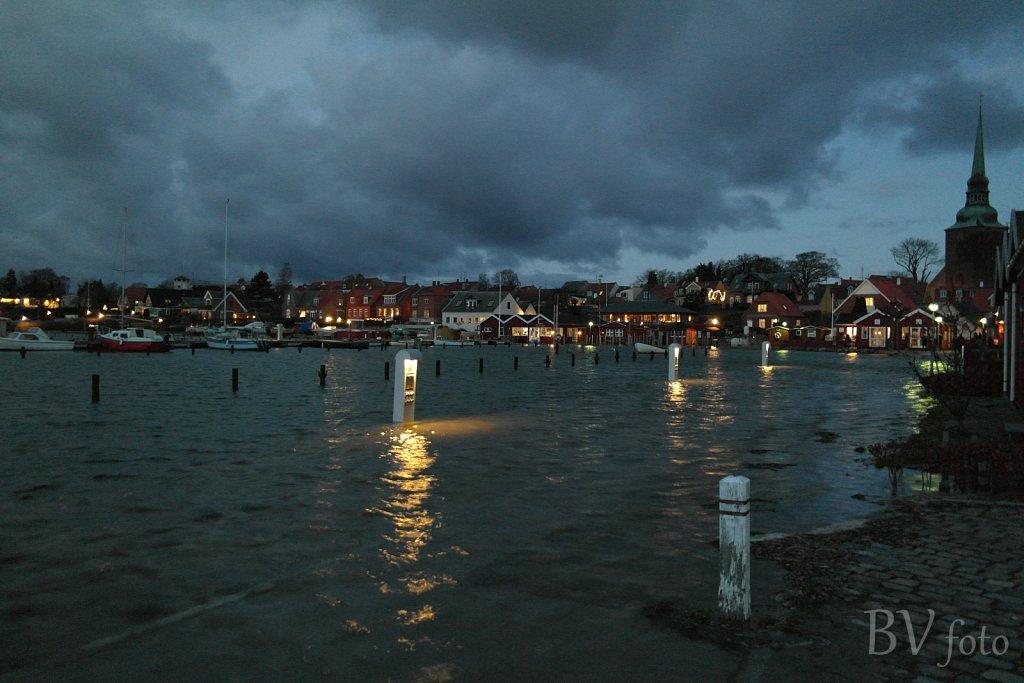 Stormflod i Nysted, Januar 2017 (48 fotos)