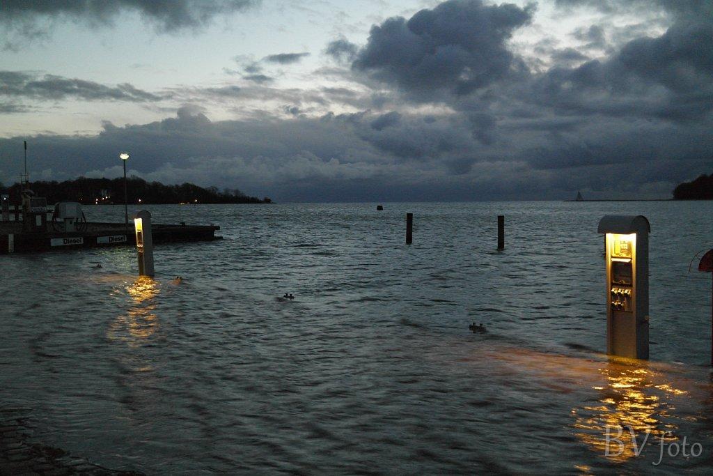 Oversvømmet havnepladser